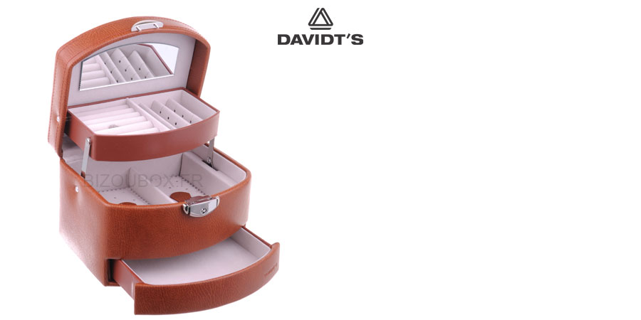 Boîte à bijoux Davidt's 367959.06 Cognac