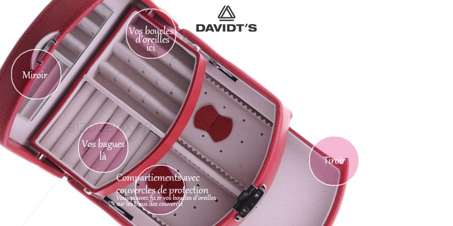 Boîte à bijoux Davidt's 367959.84 Rouge