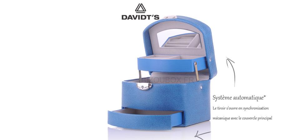 Boîte à bijoux Davidt's 367959 Bleu